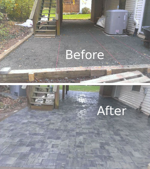 Click To Enlarge Image Patio Ceramic Tile Before After
